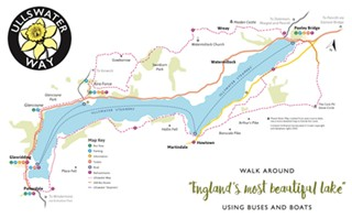 The Ullswater Way Walking Route on map a course, map a process, map a run, map a drive, map a path, map a distance, map a cut,